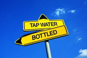 Tap Water & Bottled sign